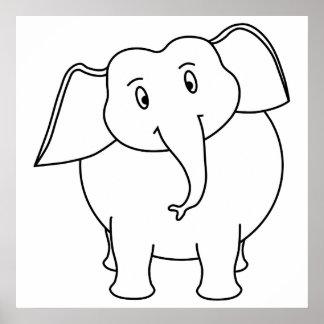 Elefante branco impressão