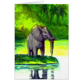Elefante - cartão