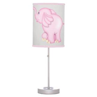 Elefante cor-de-rosa bonito do bebê da lâmpada do