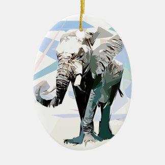 Elefante da África Ornamento De Cerâmica