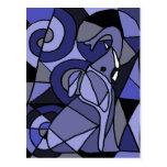 Elefante da arte abstracta AB Cartão Postal