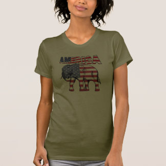 Elefante da bandeira dos EUA América Tshirts