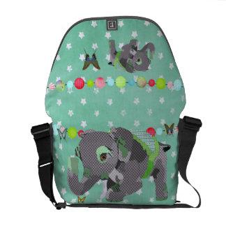 Elefante da estrela & mensageiro verdes afortunado bolsas mensageiro