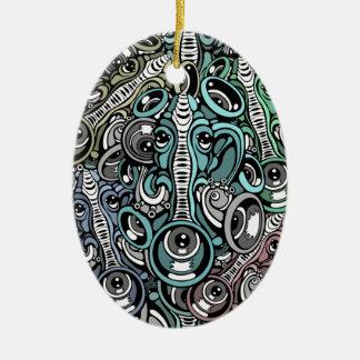 elefante da música ornamento de cerâmica