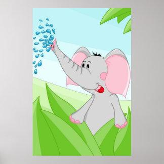 Elefante de África Poster
