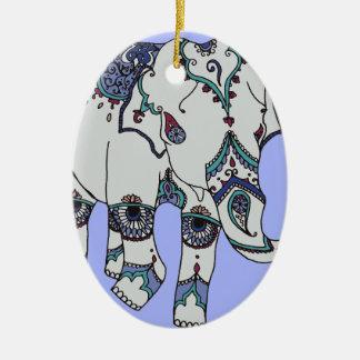 Elefante de Boho da serenidade Ornamento De Cerâmica