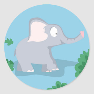 Elefante de meu serie dos animais do mundo adesivo