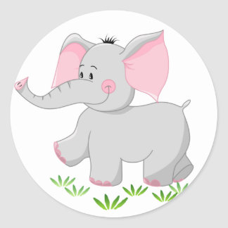 Elefante de passeio para crianças adesivo
