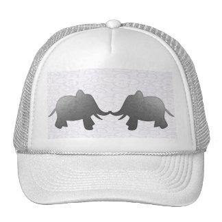 elefante de prata - branco boné