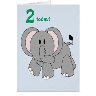 Elefante do amigo dos retalhos cartoes