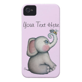 Elefante do bebê com a caixa de Blackberry da Capinhas iPhone 4