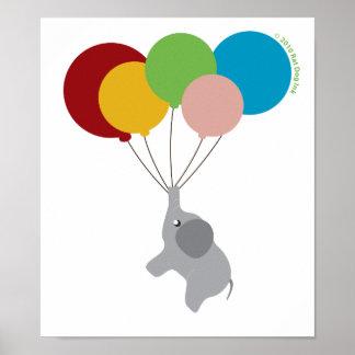 Elefante do bebê com poster dos balões pôster