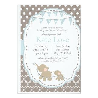 Elefante do bebé - convite do chá de fraldas