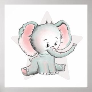 Elefante do bebê pôster