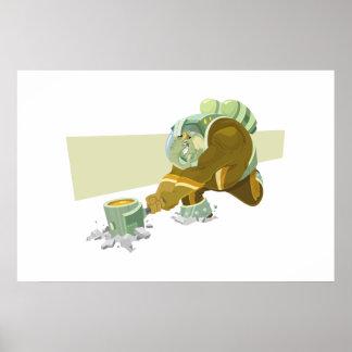 Elefante do espaço pôster