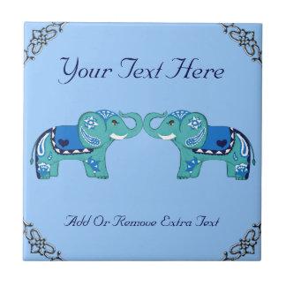 Elefante do Henna (azul/luz - azul)