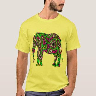 Elefante do labirinto do Fractal Camiseta