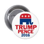 Elefante do republicano das moedas de um centavo bóton redondo 5.08cm