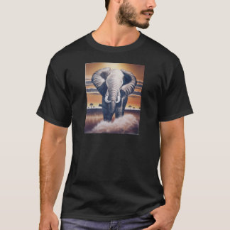 Elefante do safari camiseta