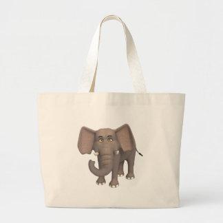 Elefante dos desenhos animados bolsas de lona
