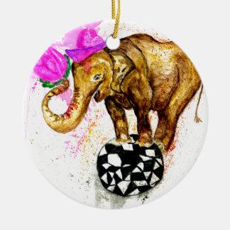 Elefante dos desenhos animados ornamento de cerâmica