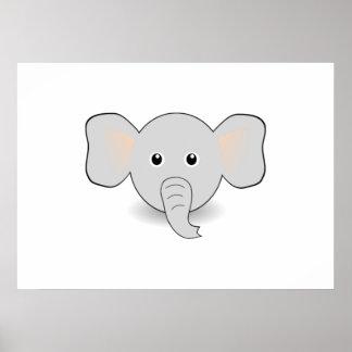 Elefante dos desenhos animados poster