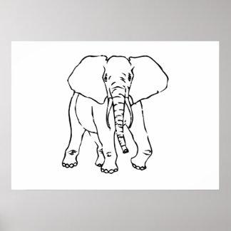Elefante dos desenhos animados