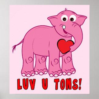 Elefante dos desenhos animados: Toneladas do amor Posters