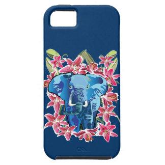 Elefante e lírio capa tough para iPhone 5