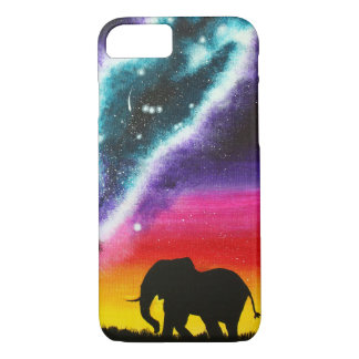 Elefante e Via Láctea - capa de telefone feita sob
