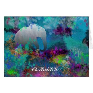 Elefante em Fantasyland - cartões para todo o