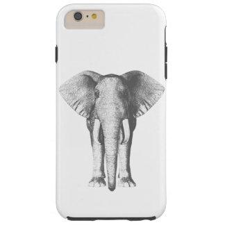 Elefante em preto e branco capa tough para iPhone 6 plus
