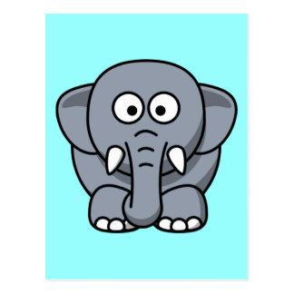 Elefante engraçado bonito cartão postal