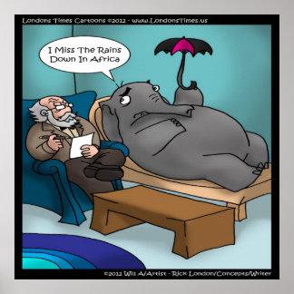 Elefante engraçado no poster da terapia pôster