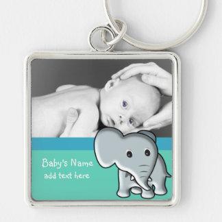 Elefante/foto do bebê chaveiros
