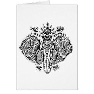 Elefante indiano inspirado do vintage cartão comemorativo