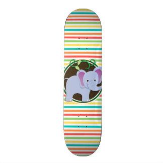 Elefante; Listras brilhantes do arco-íris Skate