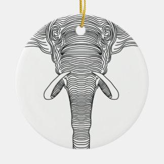 elefante ornamento de cerâmica
