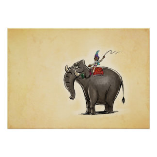 Elefante preguiçoso poster