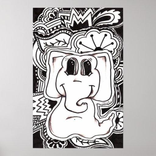 Elefante psicadélico posters