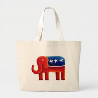 Elefante republicano bolsa tote grande