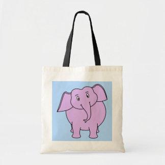 Elefante roxo. Desenhos animados Bolsas De Lona