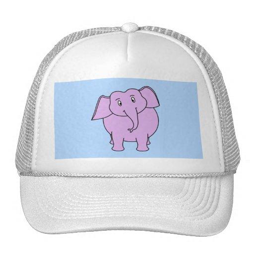 Elefante roxo. Desenhos animados Boné