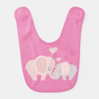 Elefantes bonitos de Momma e de bebê Babador