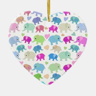 Elefantes bonitos ornamento de cerâmica