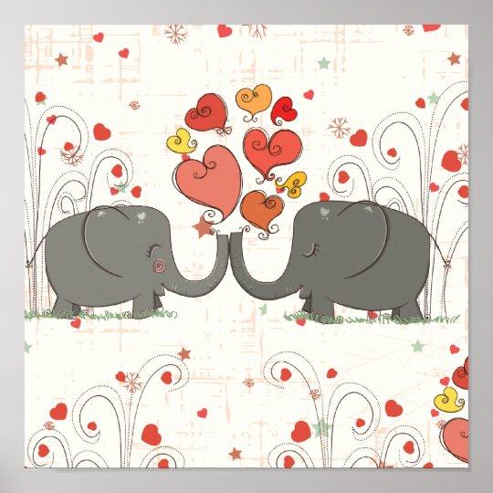 Elefantes do dia dos namorados pôster