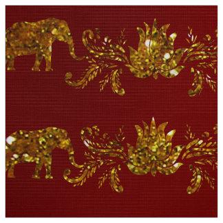 Elefantes e tecido de Lotus