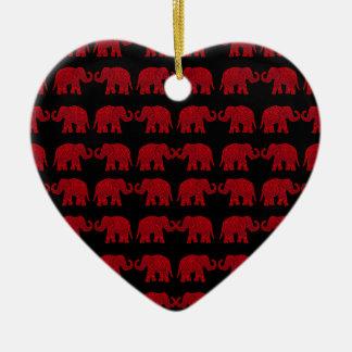 Elefantes indianos ornamento de cerâmica