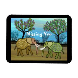 Elefantes que faltam o ímã