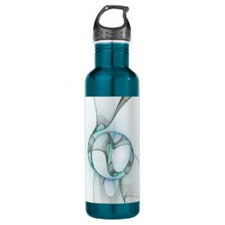 Elegância azul do abstrato das cinzas de turquesa garrafa
